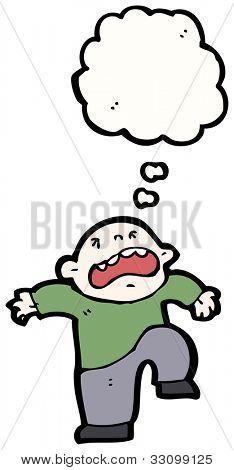 cartoon temper tantrum