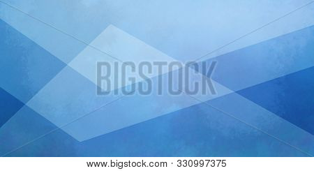 Blue Background With White Layers Of Textured Transparent Triangle Shapes In Geometric Design