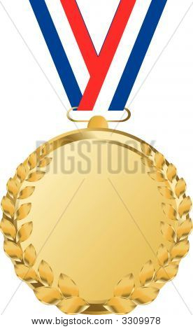 Goldmedaille mit Tricolor Band