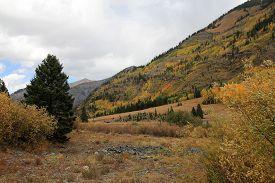 The Fall Mountains Landscape Of Colorado, Usa