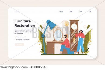 Restorer Web Banner Or Landing Page. Artist Restoring