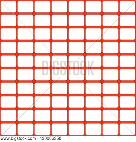 Emergency Fence. Seamless Pattern Mesh For Fencing Particularly Dangerous Areas. Fence For Road Even
