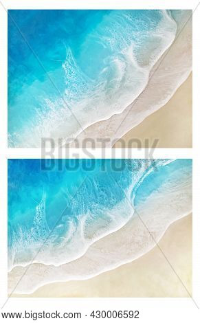 Set Of Sea Background, Sea Waves, Sand