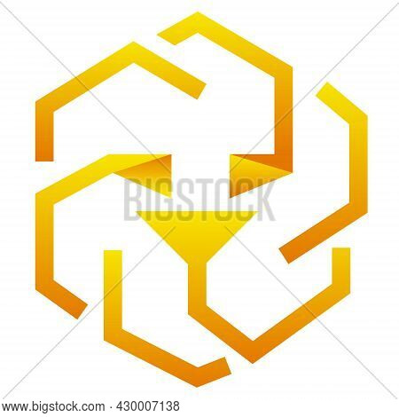 Unus Sed Leo Token Symbol Cryptocurrency Logo, Coin Icon Isolated On White Background. Vector Illust