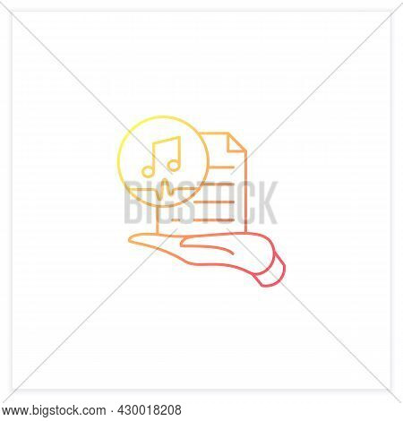 Work Ownership Gradient Icon. Music. Copyright.control Intellectual Property In Creative Environment