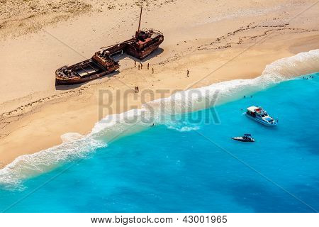 Ship Wreck On Navagio Beach, Zakynthos