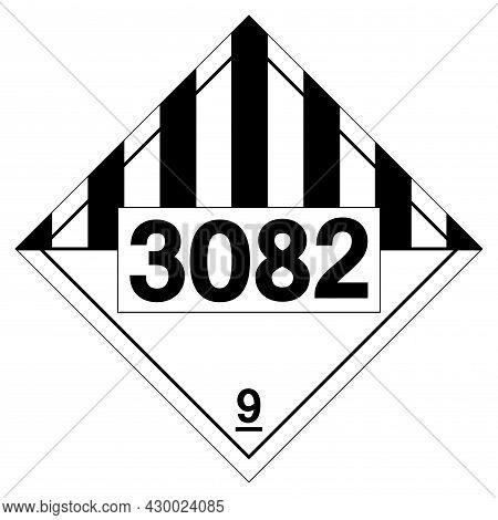 Un3082 Environmentally Hazardous Substances Liquid Symbol Sign ,vector Illustration, Isolate On Whit