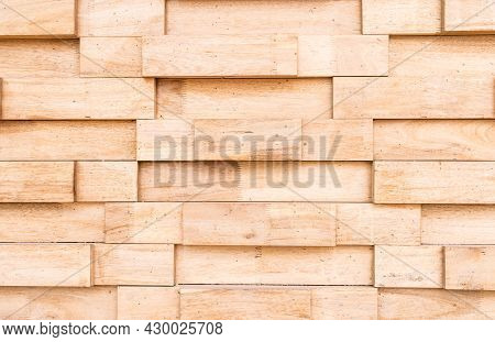 Wooden Wall Made Up Vertically Stacked Logs For Background, Woodblocks Pattern For Background, The W