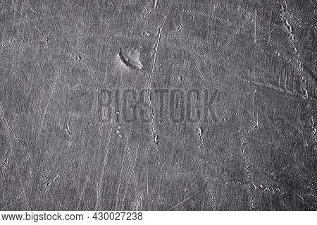 Aluminum Metal Texture, Worn Metal Plate As Background. Old Metal  Pattern