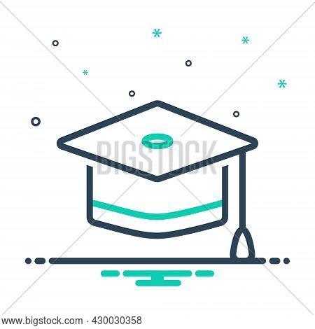 Mix Icon For Graduation-cap Cap Achievement Academic Diploma Education Learning Degree Graduate Bach