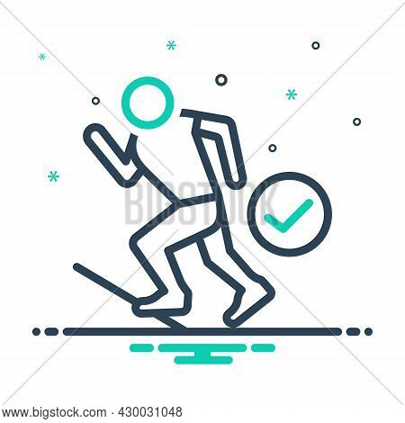 Mix Icon For Ready Prepared Get-ready Athlete Run Start Steady Track