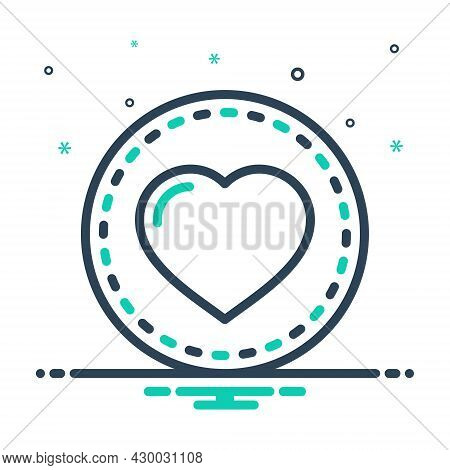 Mix Icon For Heart Feeling Love Affection Impulse Cardiology Romance