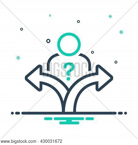 Mix Icon For Decision Verdict Discretion Conclusion Option Resolution Thought Think Choice