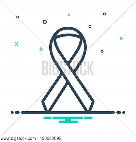Mix Icon For Ribbon Cancer-or-other Cancer Disease Sickness Long-illness Awareness Hiv Aids Treatmen