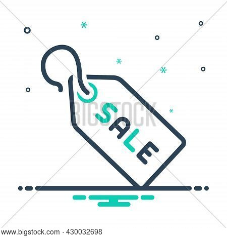 Mix Icon For Sale-tag Sale Tag Discount Coupon Stock Business Trade Purchasing Reduction Label Stick
