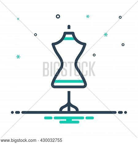 Mix Icon For Dress-form Dress Mannequin Dummy Garment Habiliments Female Embroidery Fashion Attire W