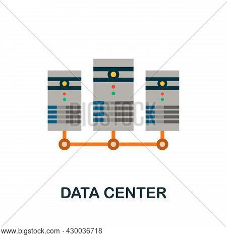 Data Center Icon. Flat Sign Element From Data Analytics Collection. Creative Data Center Icon For We