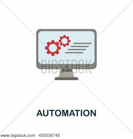 Automation Icon. Flat Sign Element From Data Analytics Collection. Creative Automation Icon For Web