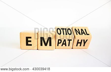 Emotional Empathy Symbol. Turned Wooden Cubes And Changed The Word 'emotional' To 'empathy'. Beautif