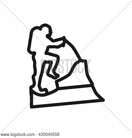 Climber Isolated Vector Icon. Climber Line Icon.