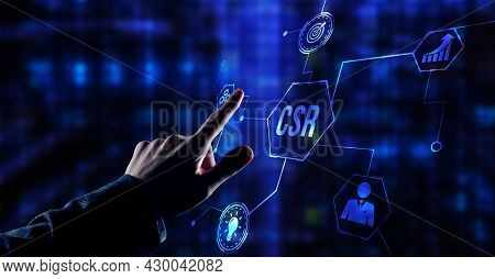 Internet, Business, Technology And Network Concept. Csr Abbreviation, Modern Technology Concept