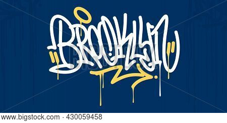 Abstract Hip Hop Hand Written Urban Street Art Graffiti Style Word