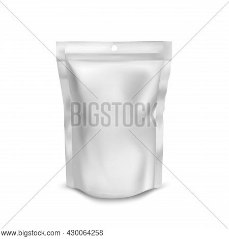 Bubble Gum Product Blank Foil Bag Packaging Vector. Mint Aromatic Chewy Bubble Gum Glossy Pouch Pack