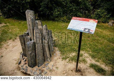 Mikulov, South Moravian Region, Czech Republic, 05 July 2021: Geopark Turold With Exposure Of Rocks