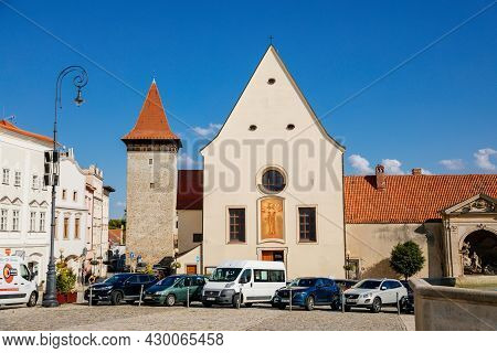 Znojmo, South Moravia, Czech Republic, 03 July 2021: Masaryk's Square At Sunny Day, Baroque And Rena