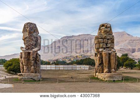 Colossi Of Memnon In Luxor In Egypt