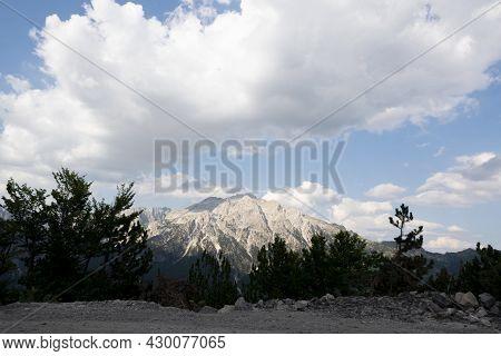 Albanian Mountain Alps. Mountain Landscape, Picturesque Mountain View In Summer. Albanian Nature Pan