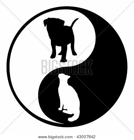 Yin Yang Dog Cat