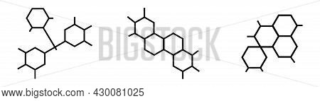 Set Of Molecule And Structure Of Substance On White Background