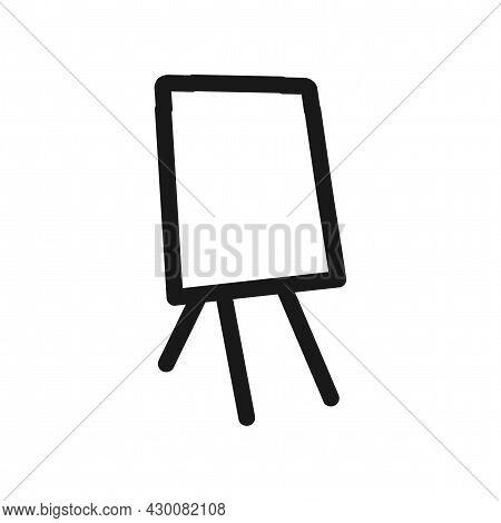 Easel Canvas Vector Icon. Easel Canvas Line Icon.