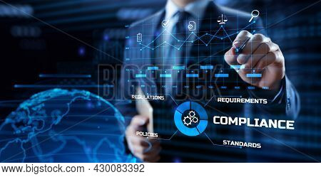 Compliance Rules Regulation Policy Law. Business Technology Concept