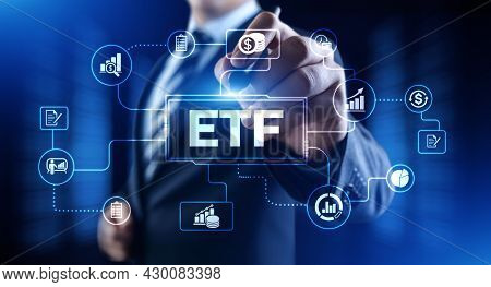 Etf Exchange Traded Fund Stock Market Trading Investment Financial Concept
