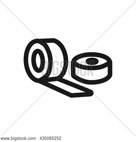 Sticky Tape Vector Icon. Sticky Tape Line Icon.