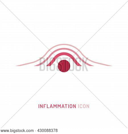Inflammation, Pain, Angriness Sign. Editable Vector Illustration In Modern Outline Style Isolated On