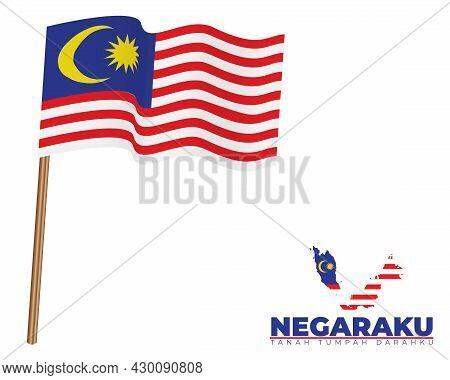 Malaysia Waving Flag, Map,
