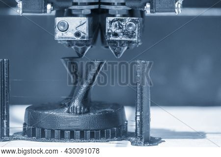 The 3d Printer Machine  Print Out The Human Model Parts. The Hi Technology 3d Model Process By Rapid