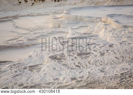 Pamukkale, Meaning Cotton Castle In Turkish, Is A Natural Site In Denizli Province In Southwestern T