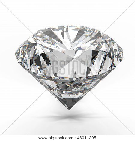Diamonds Isolated On White