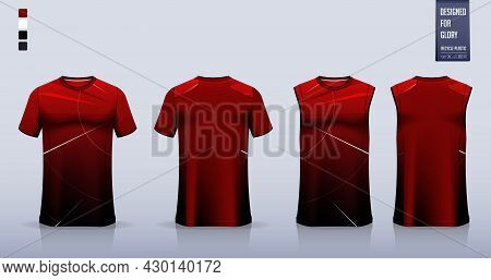 T-shirt Sport, Soccer Jersey, Football Kit, Basketball Uniform, Tank Top, And Running Singlet Mockup