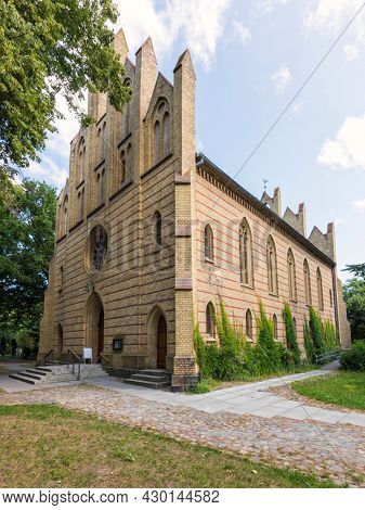 Neo-gothic protestant Peter-Pauls-Kirche church at the town of Zingst, Mecklenburg Western-Pomerania, Germany