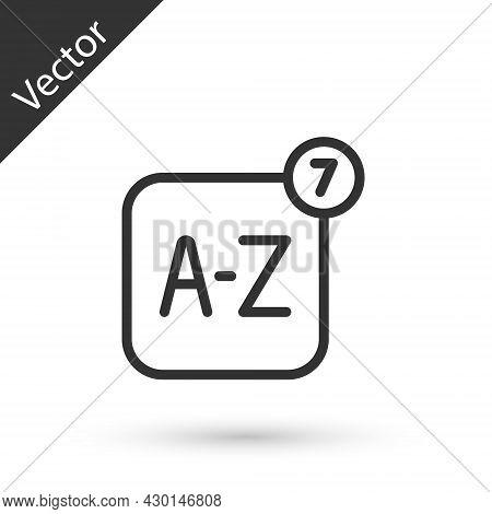 Grey Line Online Translator Icon Isolated On White Background. Foreign Language Conversation Icons I