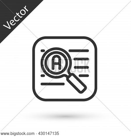 Grey Line Translator Icon Isolated On White Background. Foreign Language Conversation Icons In Chat