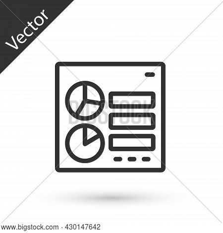 Grey Line Computer Api Interface Icon Isolated On White Background. Application Programming Interfac