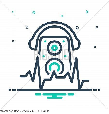Mix Icon For Beat Audio Dj Frequency Music Disco Noise Sound Headphone Soundwave