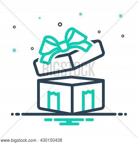 Mix Icon For Gifted Giftbox Surprise Wraped Ribbon Contribution Souvenir Giveaway Bounty Present Pac
