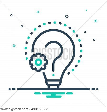 Mix Icon For Reason Creativity Doubt Find Cause Logic Sake Analysis Confused Argumentation Reasoning